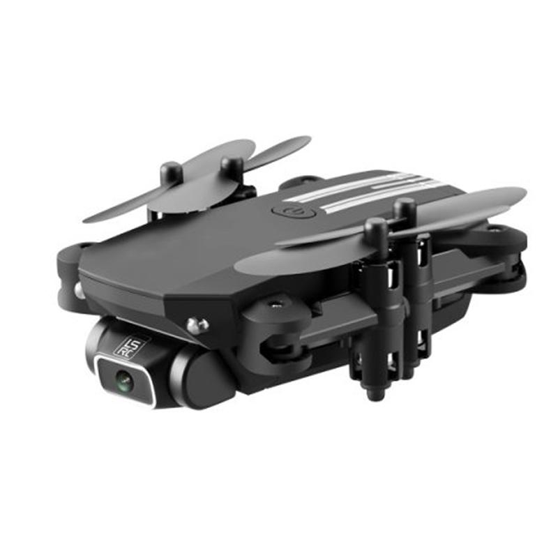 2020 New Mini Drone 4K 1080P HD Camera WiFi Fpv Air Pressure Altitude Hold Black And Gray Foldable Quadcopter RC Drone Toy Black 480P