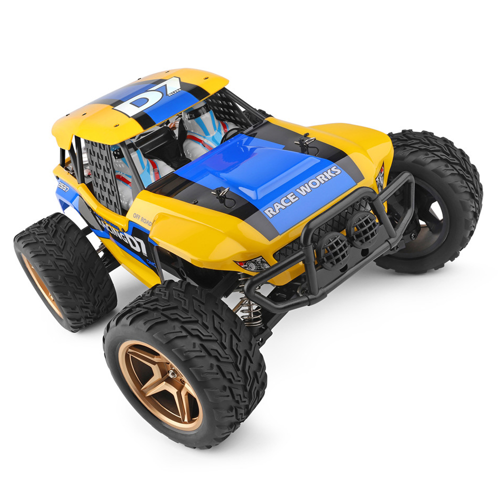 Wltoys 12402-A 4WD 1/12 2.4G RC Car Dessert Baja Vehicle Models High Speed 45km/h (Custom Package) No Color Box yellow
