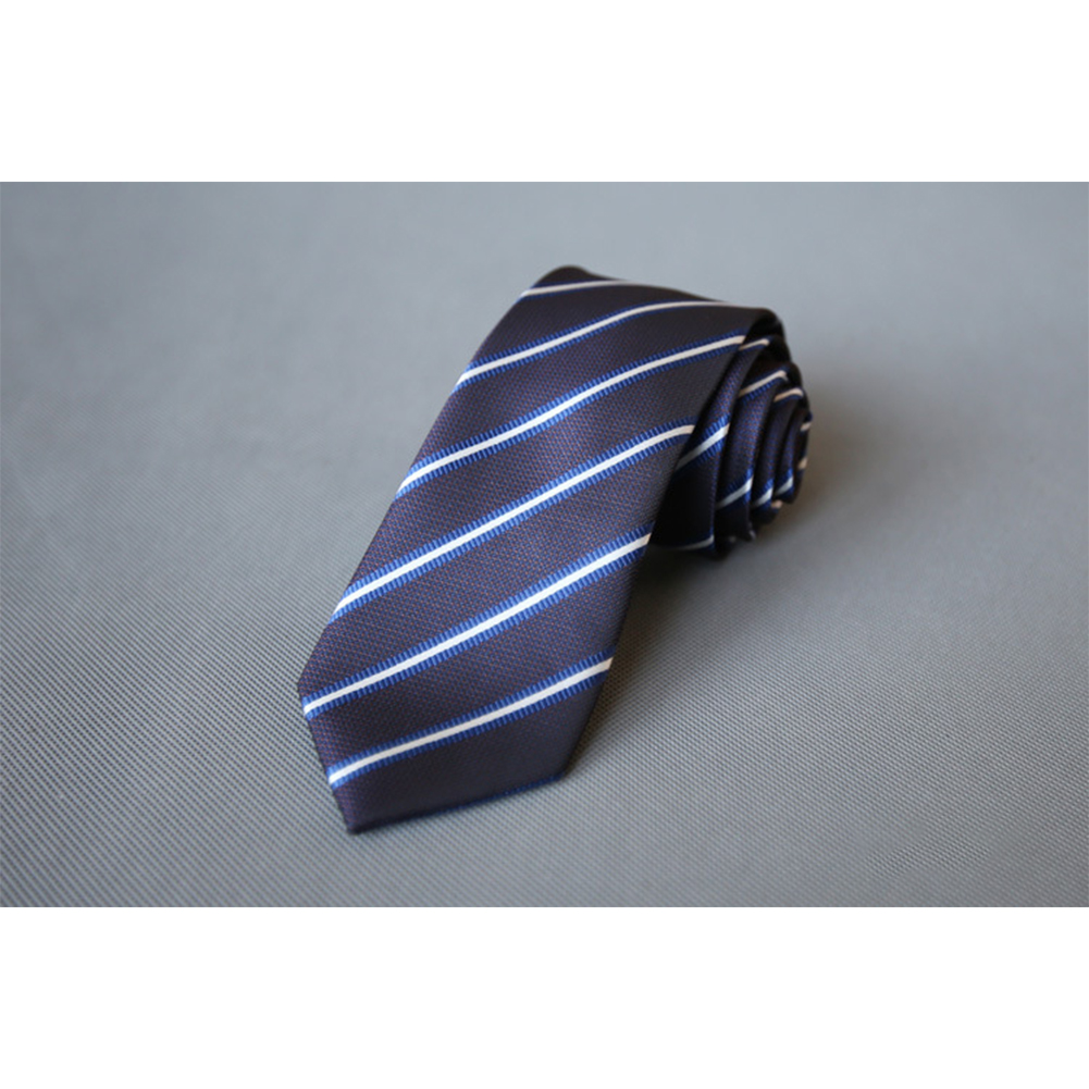 Men's Wedding Polyester Tie 7cm Necktie for Wedding Party Business  QLD-003