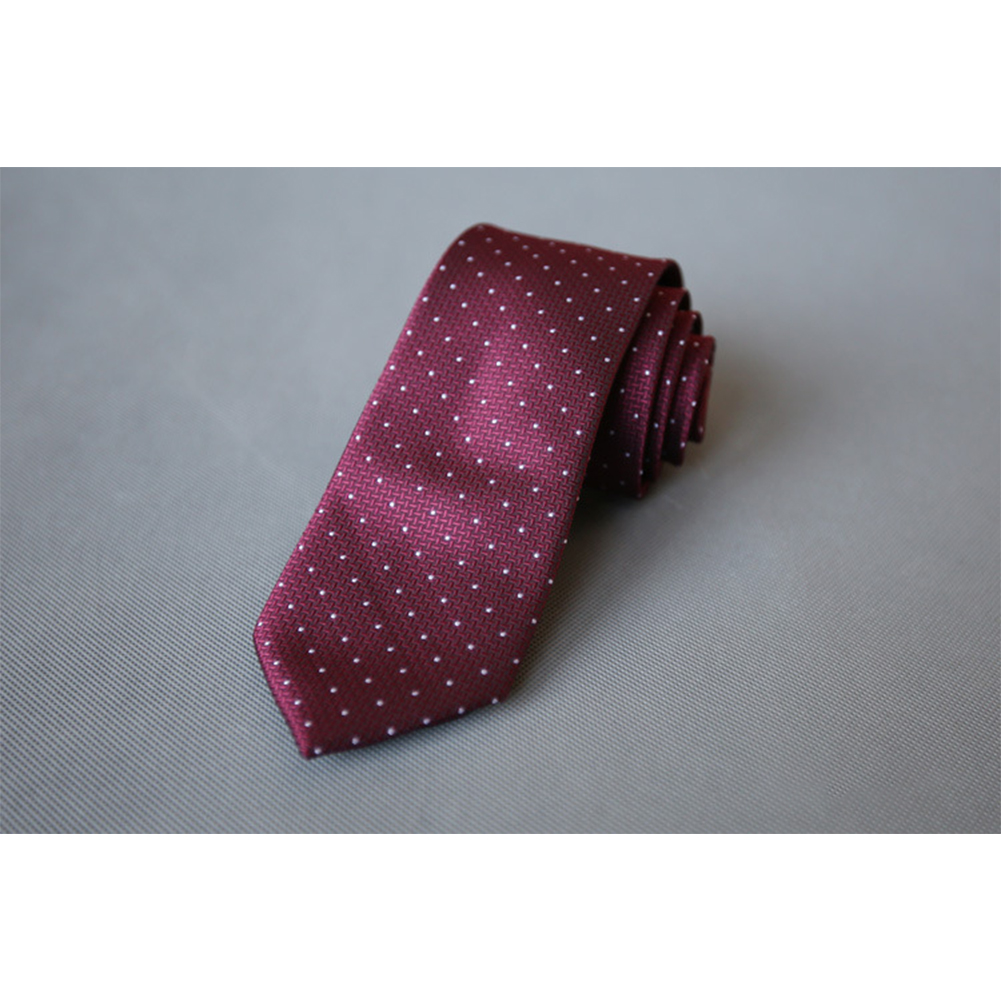 Men's Wedding Polyester Tie 7cm Necktie for Wedding Party Business  QLD-004