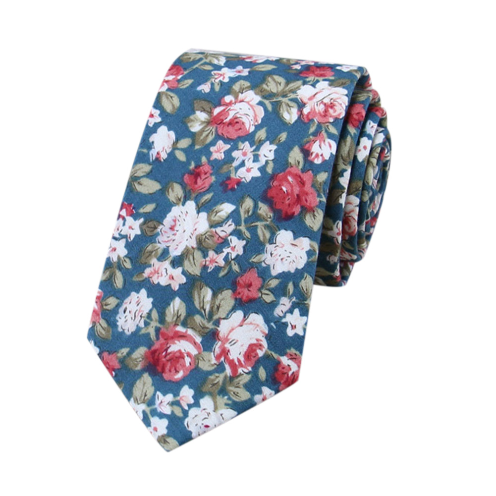Classic Men Tie Fashion Business Flower Printing Necktie for Wedding Party SHM-34