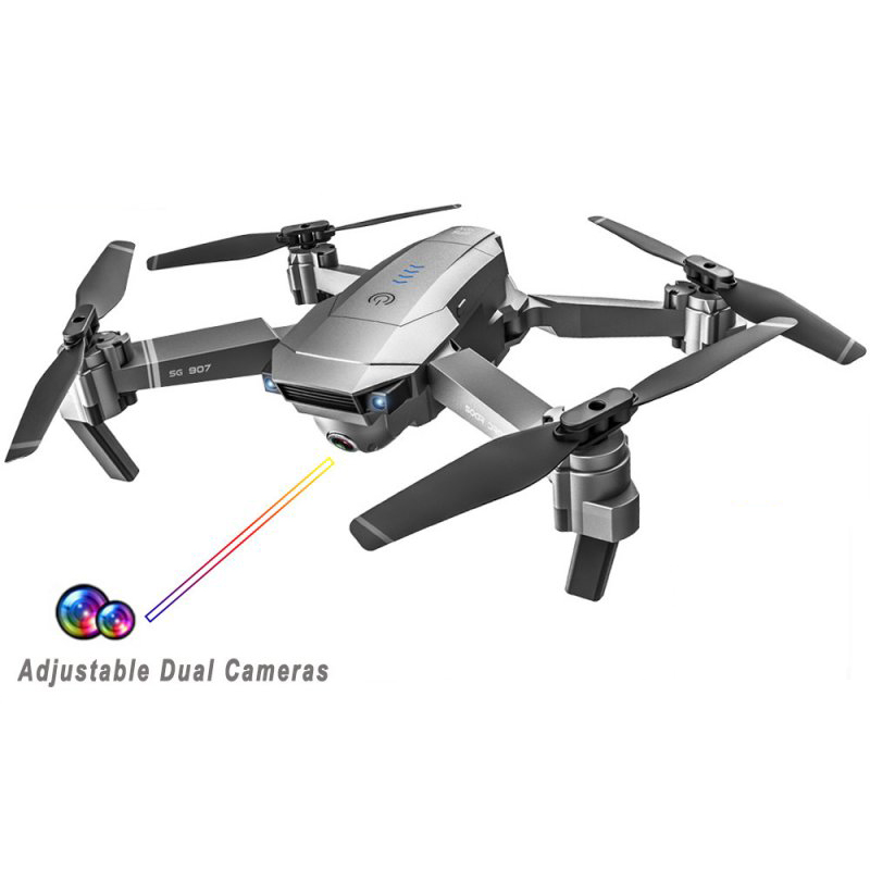 SG907 GPS Drone with Camera 4K 5G Wifi RC Quadcopter Optical Flow Foldable Mini Dron 1080P HD Camera Drone 1080P 1 battery
