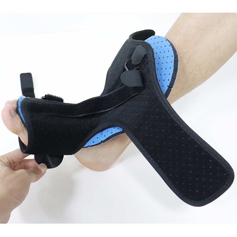 Night Splint Foot Orthosis Stabilizer Plantar Fasciitis For Dorsal Ankle Drop Ankle Splint Supports black_One size