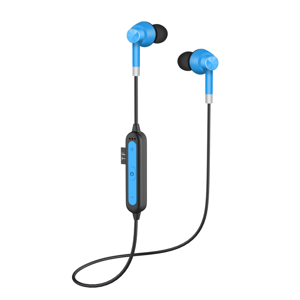 Wireless Bluetooth Headsets Back Neck Hanging Sports Bluetooth 5.0 Earphones blue