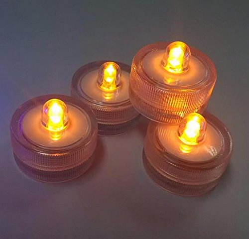 Round LED waterproof candle light (color card packaging)-yellow 12PCS/group