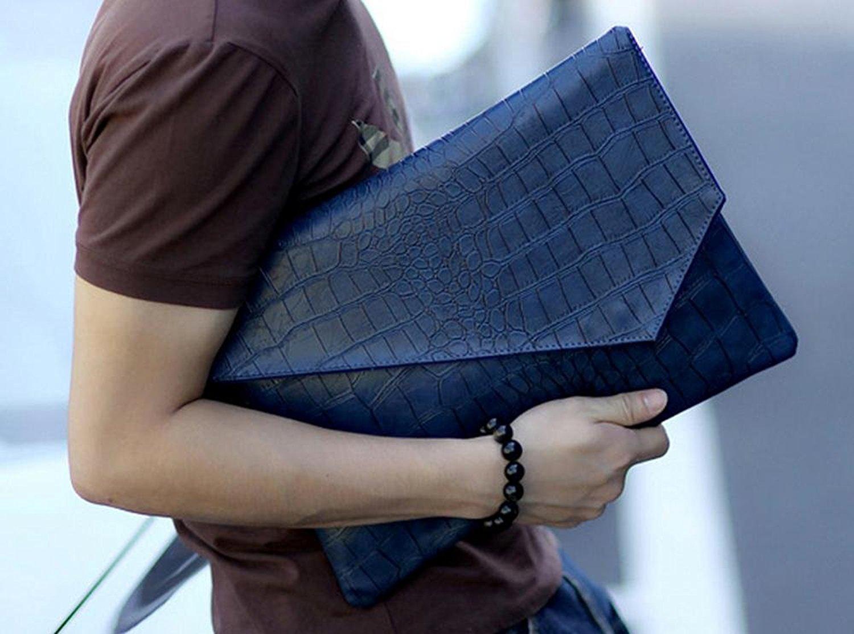 Smart Clutch Bag Unisex (Crocodile ver2 Blue)