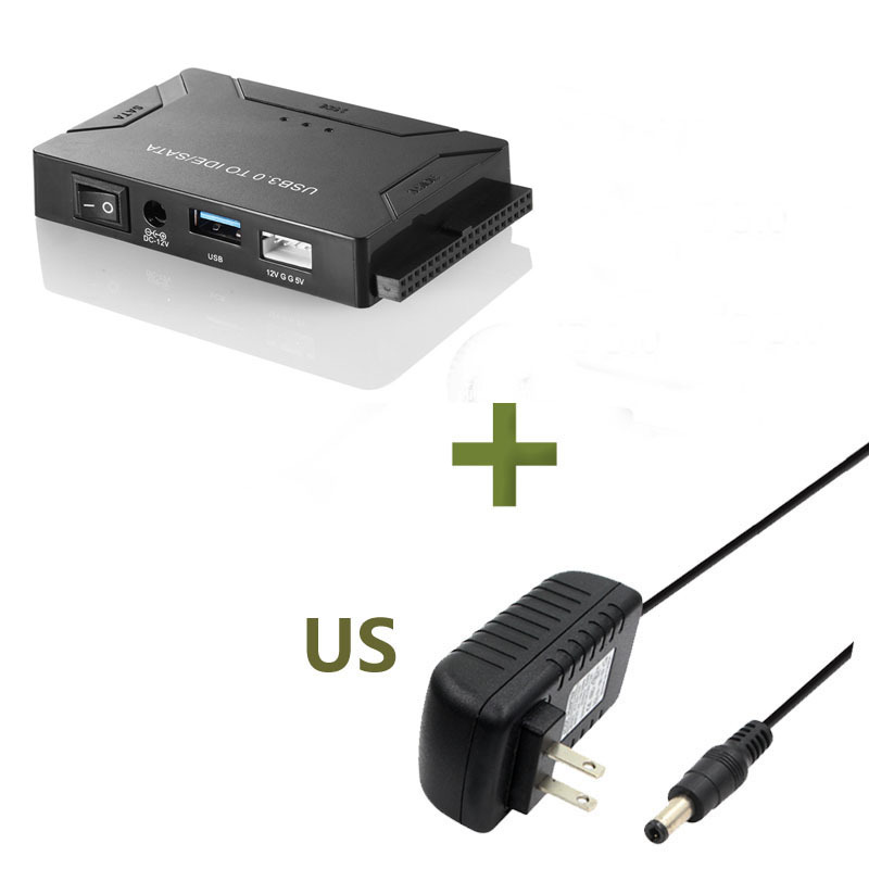 3 in 1 USB3.0 to SATA IDE Easy Drive Line IDE HDD SSD Adapter Cable 2.5 3.5 Inch Hard Drive Adapter  U.S plug