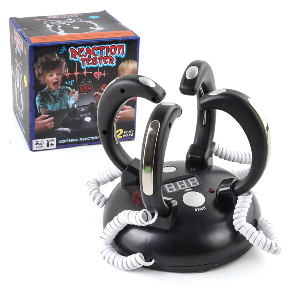 Funny  Tricky  Party  Toys Finger Electric Shock Polygraph Party Game Toy As shown