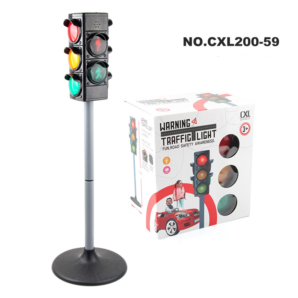 1  Set  Simulation  Traffic  Lights  Toy Traffic Safety Signs Model Scenes Science Education Toys #2
