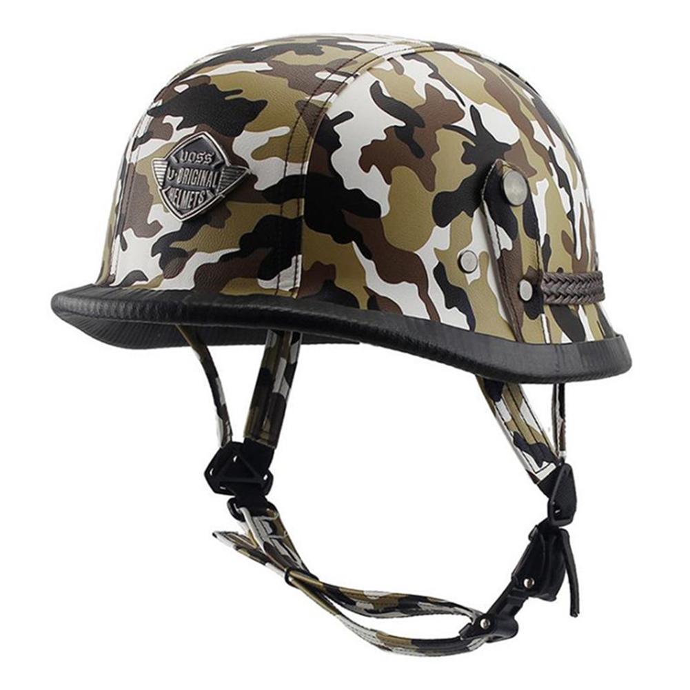 Helmet Personal Retro Cruiser Motorcycle Helmet Camouflage Yellow XL