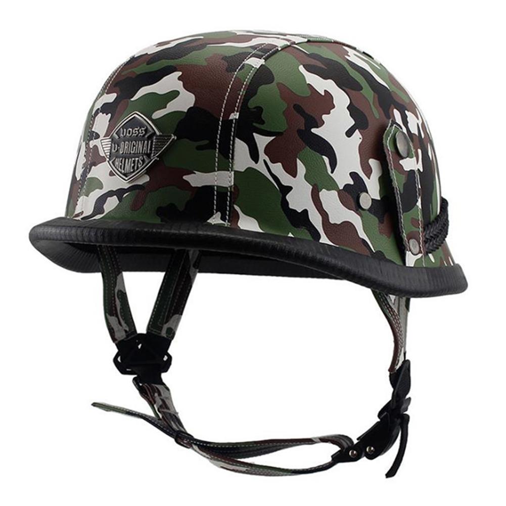 Helmet Personal Retro Cruiser Motorcycle Helmet Camouflage Green XL