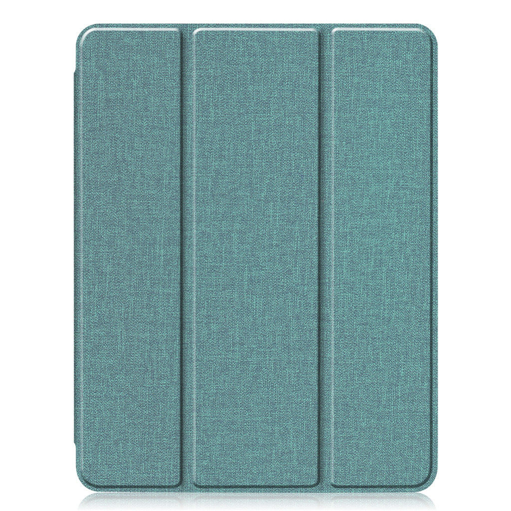 11 inch Foldable TPU Protective Shell Tablet Cover Case Shatter-resistant with Pen Slot for iPadPro Cyan