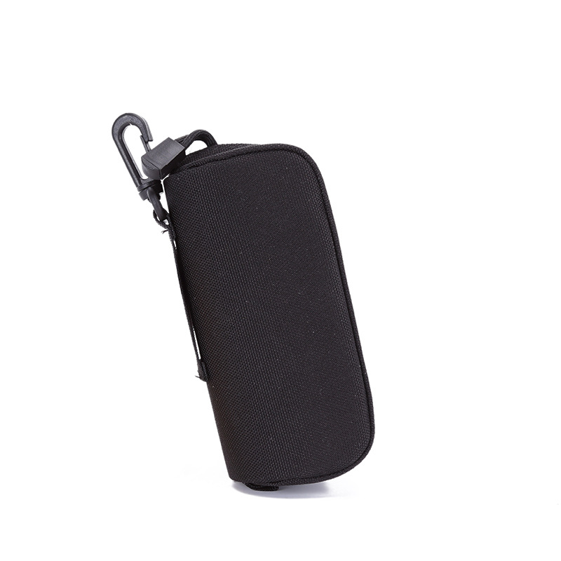 Tactical Sunglasses Case Military Molle Pouch Camouflage Goggles Storage Box Eyewear Accessory Waist Pouch black_15*6*6cm