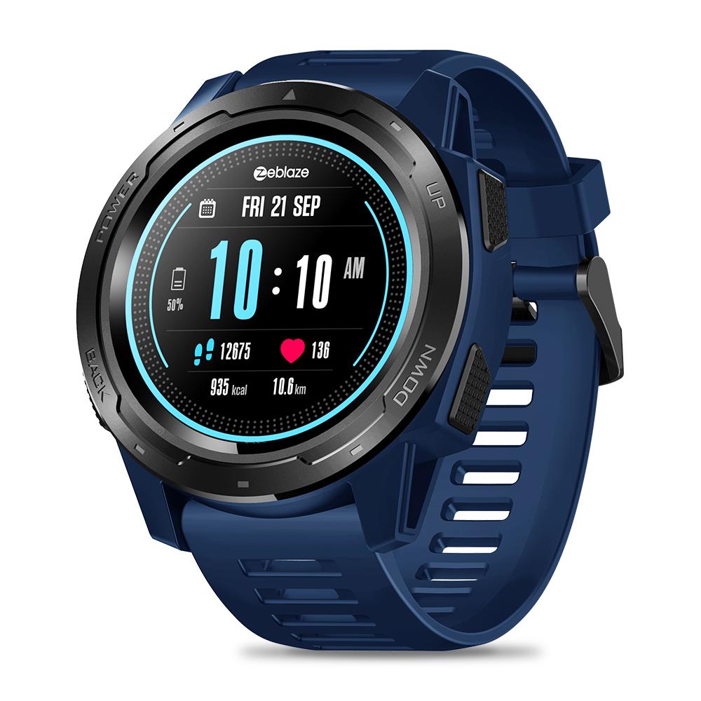 Zeblaze VIBE 5 1.3 Inch Round Screen Heart Rate Sleep Monitor Smart Watch Sport Bracelet Fitness Tracker blue