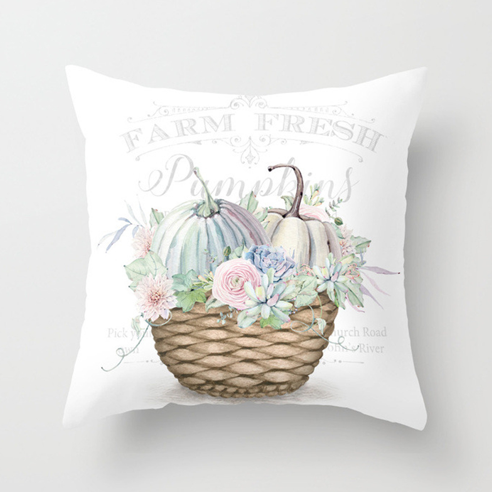 Thanksgiving Day Pumpkin Printed Throw Pillow Cover Pillowcases Decorative Sofa Cushion Cover DRD85-20_45*45cm