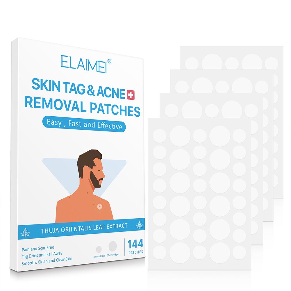 144 Pcs/set Skin Tag Transparent Dot Ultra-thin Warts Remover Treatment Sticker 144 posts