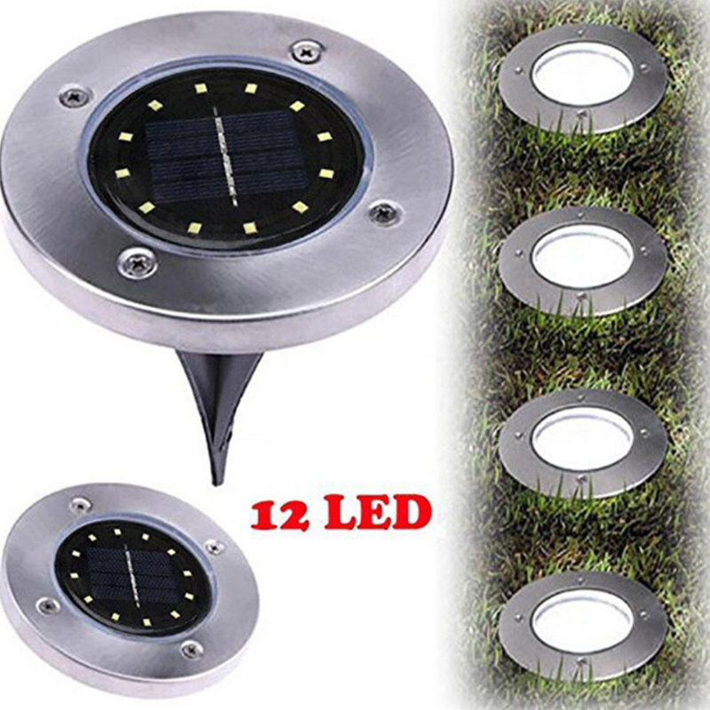 12 LED Solar-powered Buried Light