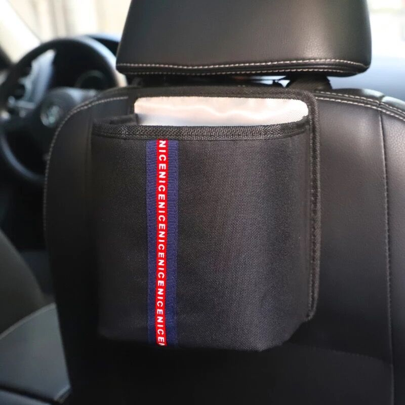 Letters pattem Storage Pouch Seat Back Pocke