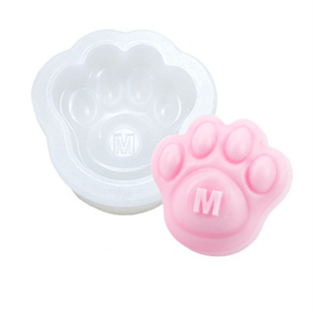 DIY Mold Silicone Paw Shape Mould for Candle Soap Craft Cake Baking Decoration