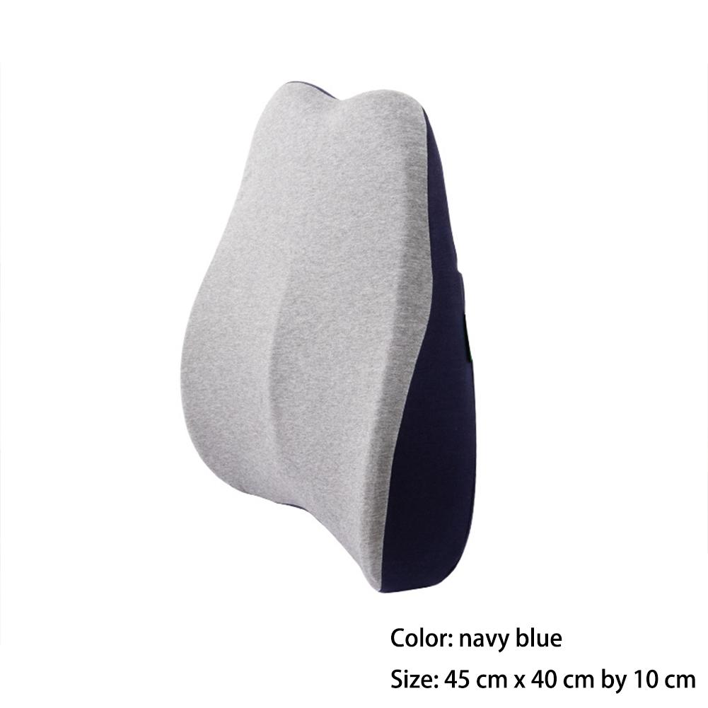 Waist  Cushion 45*40*10cm Ergonomic Designed Waist Support Pillow Memory Foam Navy