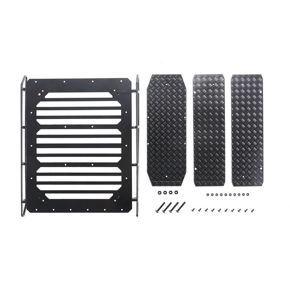 Metal Luggage Rack Roof Frame Spot Light with Anti-slip Pattern for Trx-6 G63 6x6 1/10 Rc Car Parts Non-slip + luggage rack