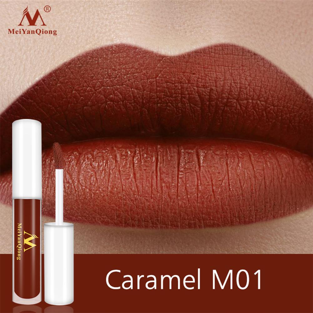 Lip Makeup Non-stick Cup Lipstick Lip Gloss Lasting Moisturizing Waterproof Lip Gloss Matte Lip Glaze M01