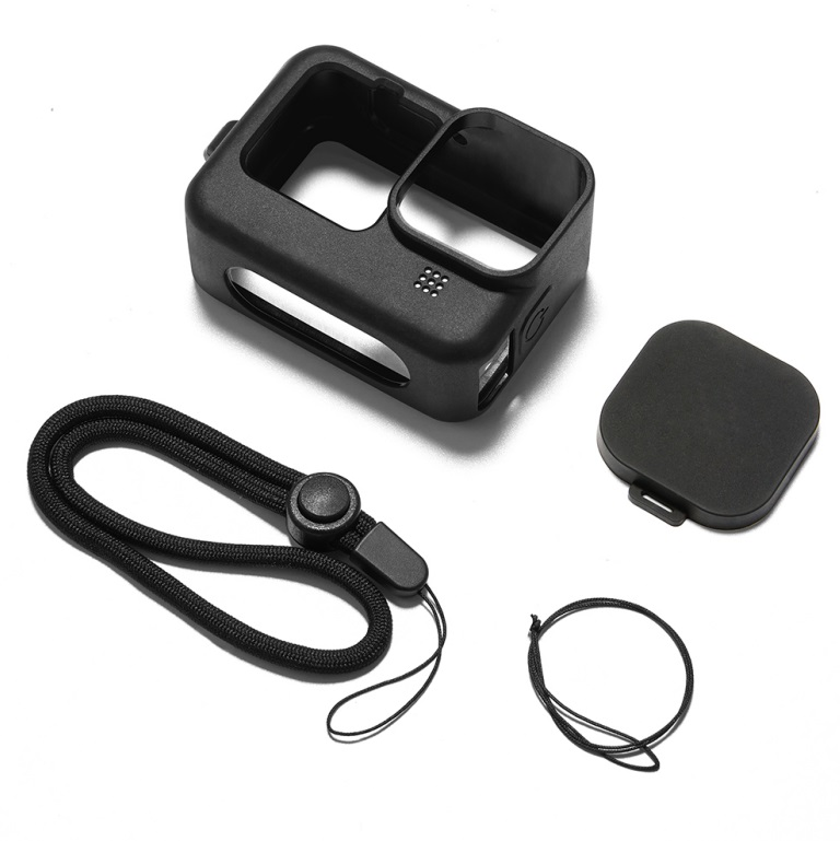 Frame Silicone Protective Housing Case Skin Lens Cover for GoPro Hero 9 Black Action Camera Accessories black