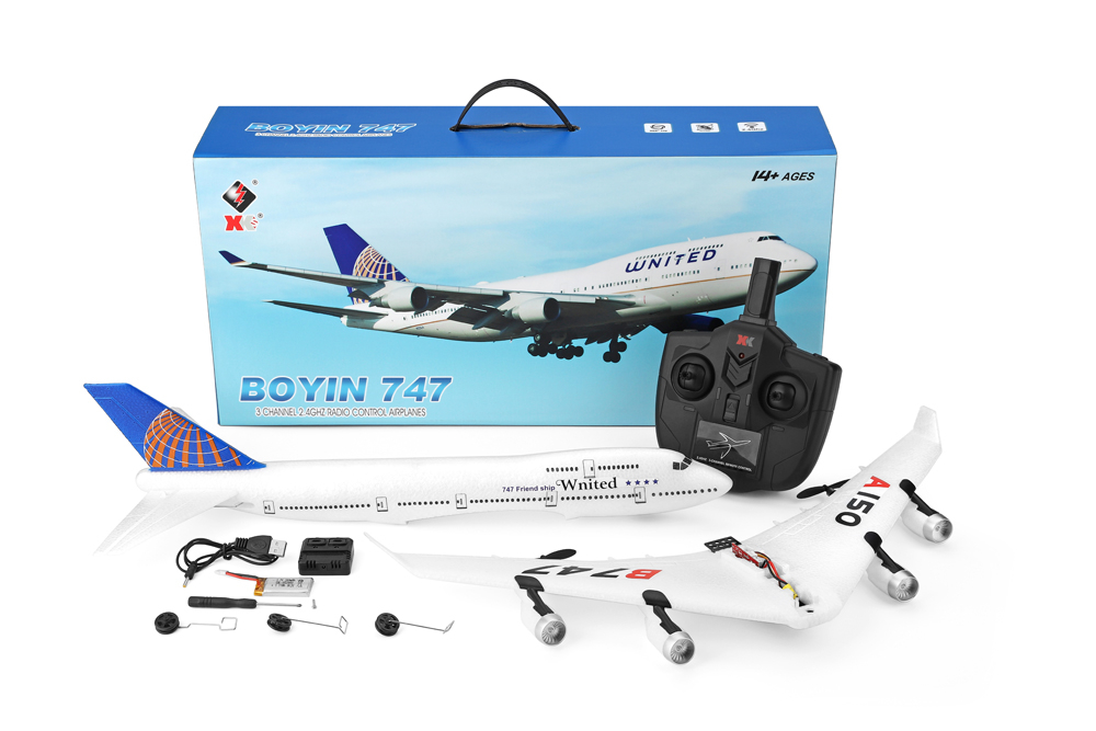 WLtoys XK A150-C YW Boeing B747 510mm Wingspan 2.4GHz 2CH EPP RC Airplane Fixed Wing A150-C