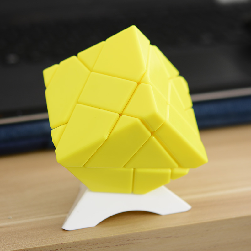 [US Direct] Emorefun Qin Speed Soomth Carbon Fiber 3x3 Puzzle Cube Yellow (1* gold sticker, 1* silver sticker)