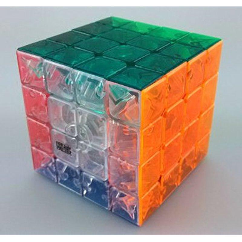 [US Direct] Qiyun New Structure 4x4 Speed Cube Stickerless .Transparent