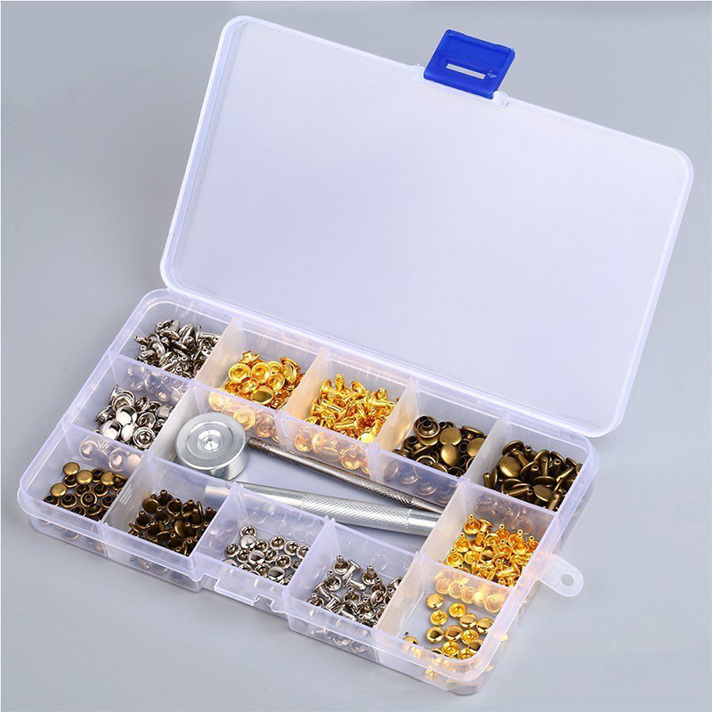 180pcs/set 6mm 8mm Clips Double-sided Rivets Fasteners + Installation Tools