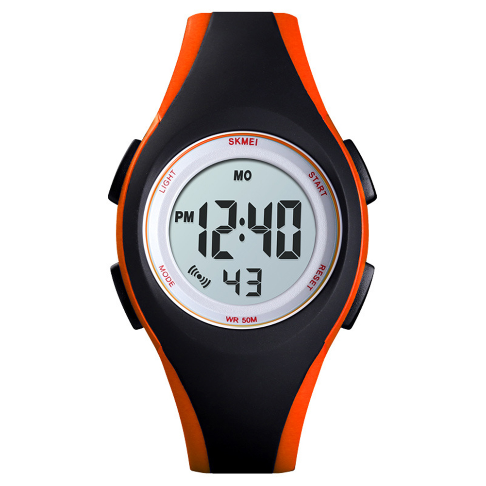 Boys Girls Watch Fashion Luminous Waterproof Electronic Children's Watch Orange