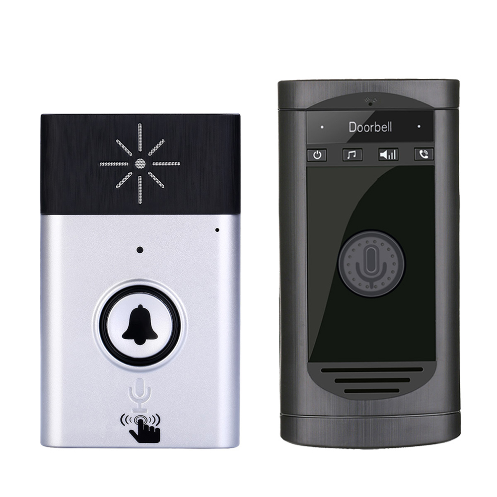 Smart Door Phone Intercom Monitor Silver