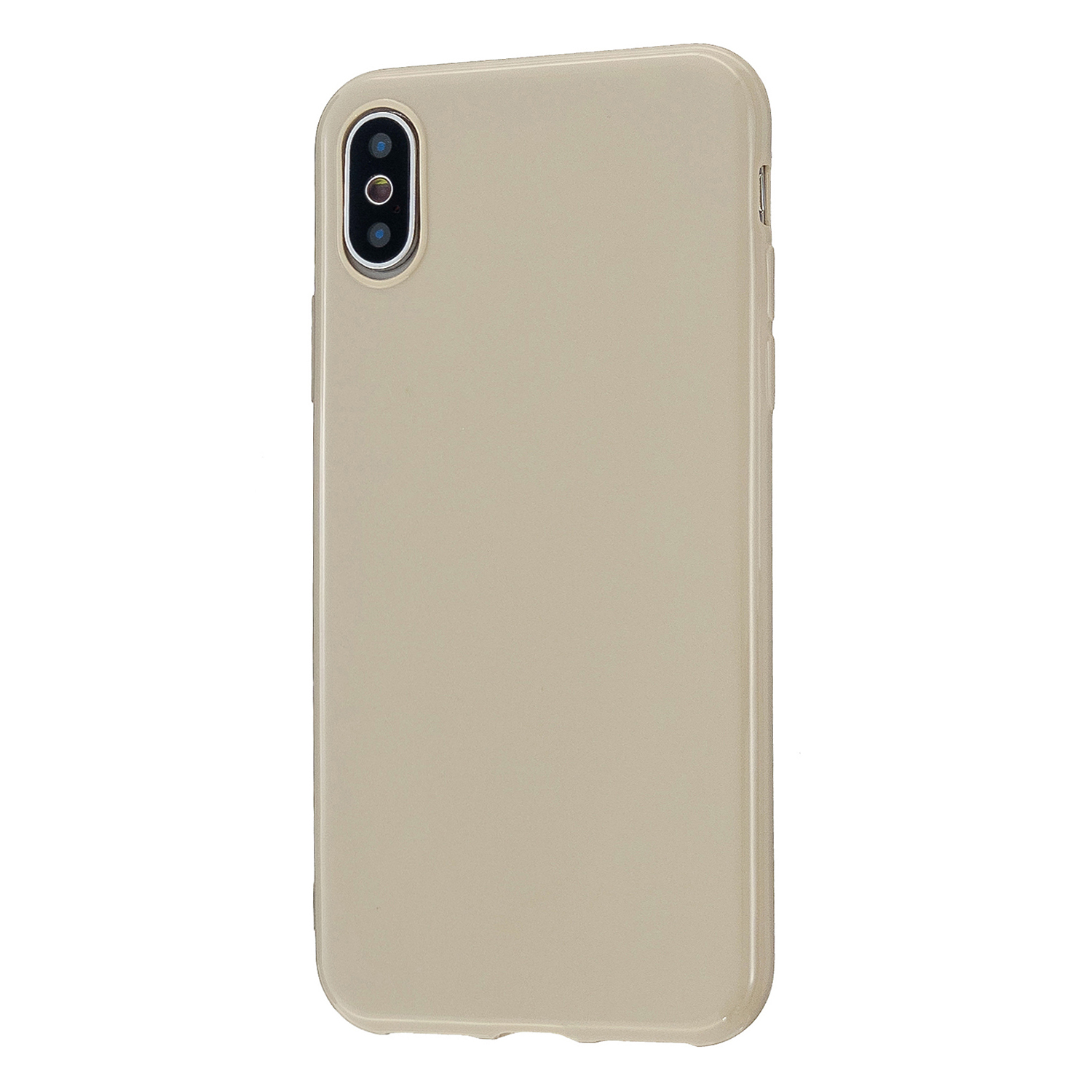 For iPhone X/XS/XS Max/XR  Cellphone Cover Slim Fit Bumper Protective Case Glossy TPU Mobile Phone Shell Milk tea