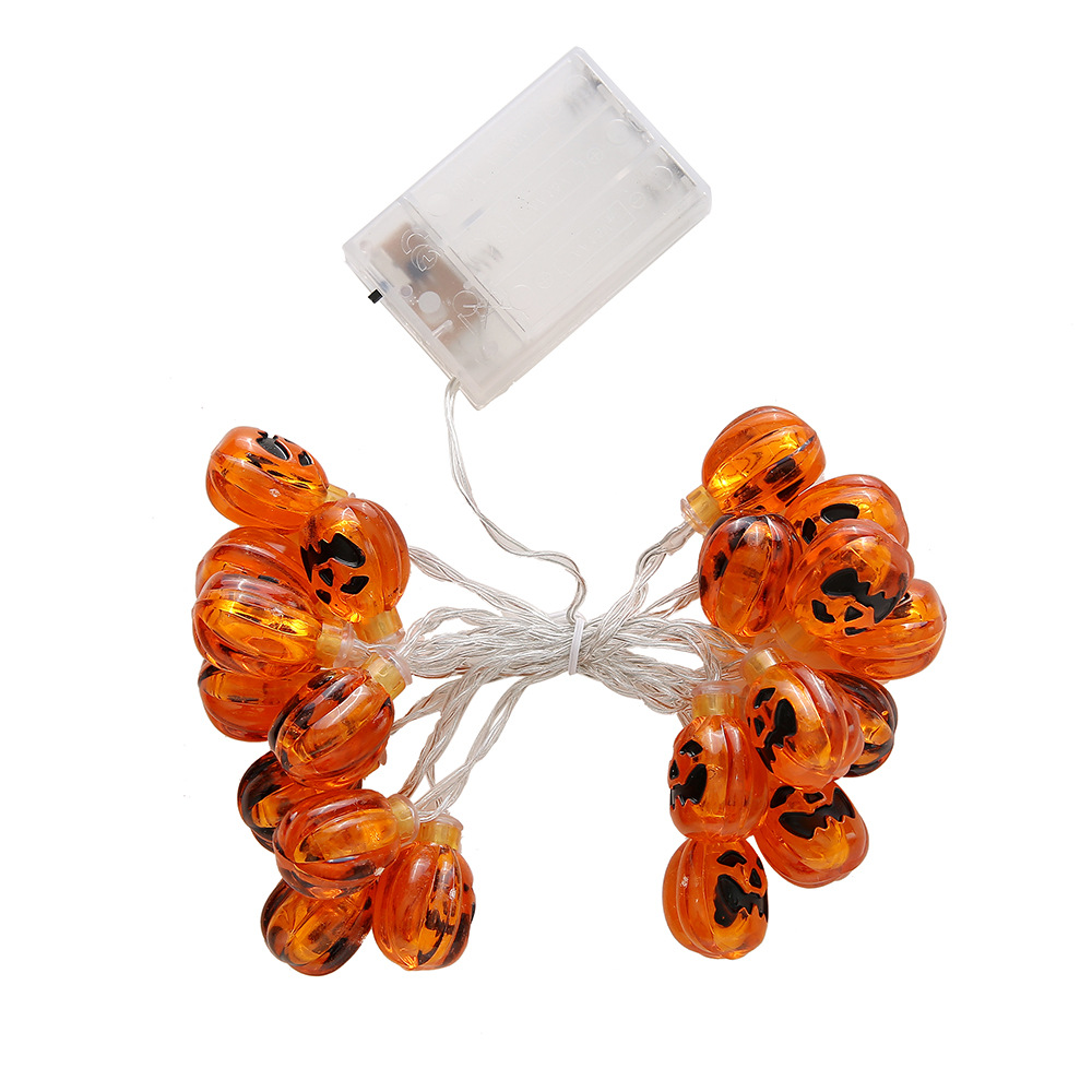 2m Halloween Lights String 3D Pumpkin Lights Battery Operated Jack-O-Lantern Lights for Halloween Decorations Outdoor, Indoor, Party 20LED