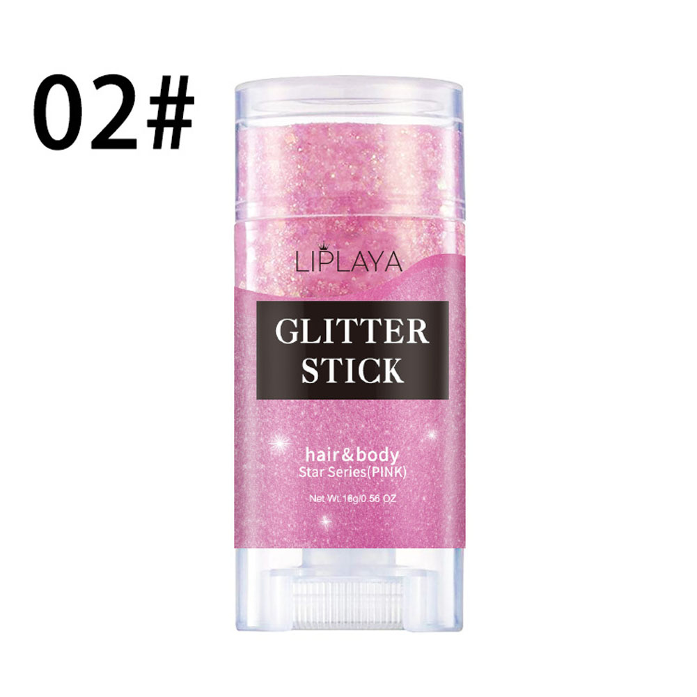 Three-color Flash Powder Illusion Eyeshadow Stage Makeup Party Portable Glitter Cream 02#
