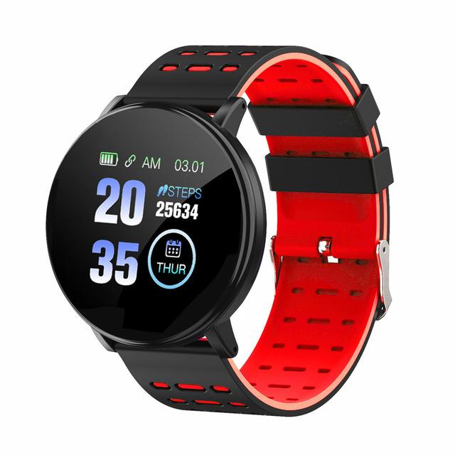 Smart Watch Blood Pressure Heart Rate Pedometer Fitness Tracker Smart Bracelet red