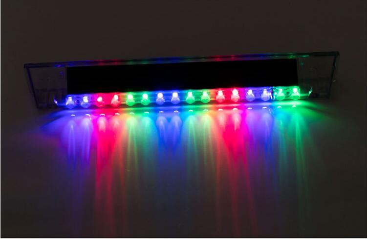 Car Warning Light 14 LED Solar Power Auto Car Emergency Warning Strobe Light Lamp Colorful