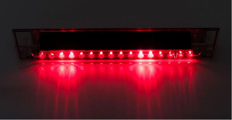 Car Warning Light 14 LED Solar Power Auto Car Emergency Warning Strobe Light Lamp red