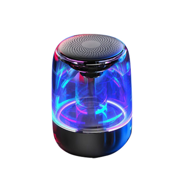 C7 Wireless Bluetooth Speakers Stereo TWS Subwoofer mini sound box portable speaker with Colorful LED Light Support TF Card Mic black_High version