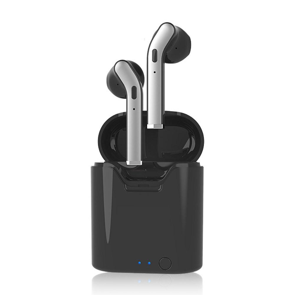 TWS Wireless Earbuds Binaural Sports Bluetooth 5.0 Bass Earphone black