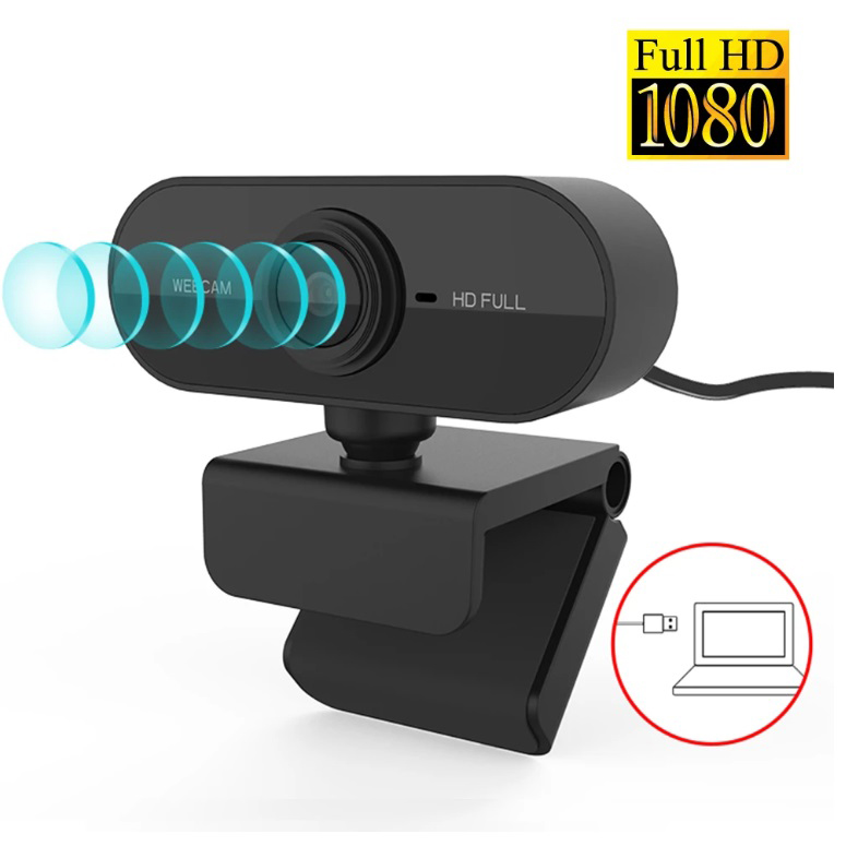 1080p Full Hd Web Camera With Microphone Usb Plug Web Cam For Pc Computer Mac Laptop Desktop Mini Camera black