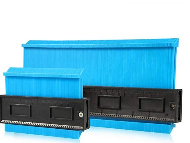 Profile Gauge 10 Inch Widened Contour Gauge Measure Ruler Contour Duplicator for Precise Measurement Tiling Laminate Wood Marking Tool