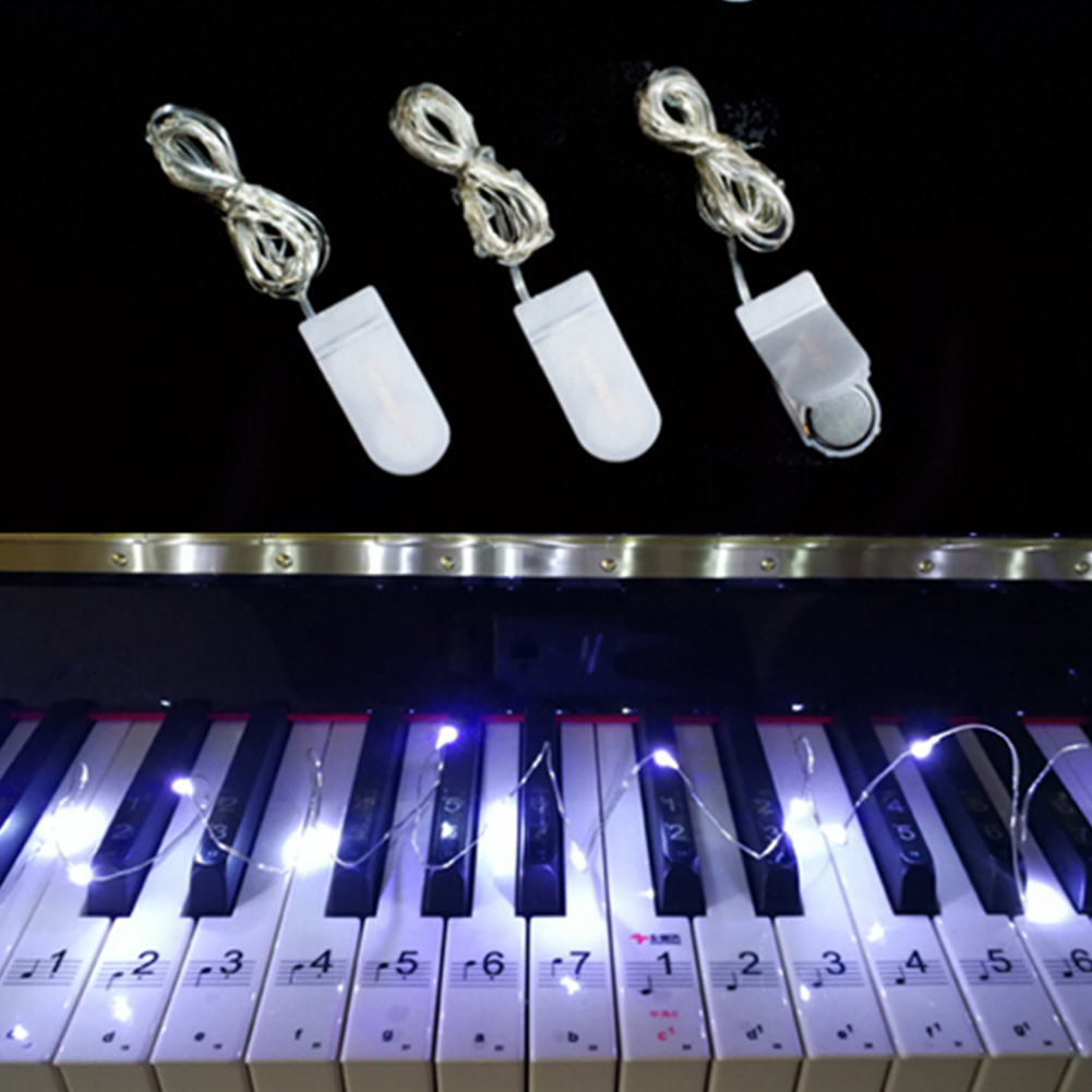 2M 20LED Button Battery Copper Wire String Light Fairy Lamp Wedding Party Festivals Decoration White light
