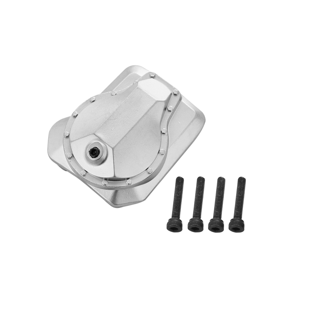 Metal Front/Rear Axle Housing Cover with Screw Replacement Accessory Parts for Traxxas/TRX4 1/10 RC Crawler Car as shown
