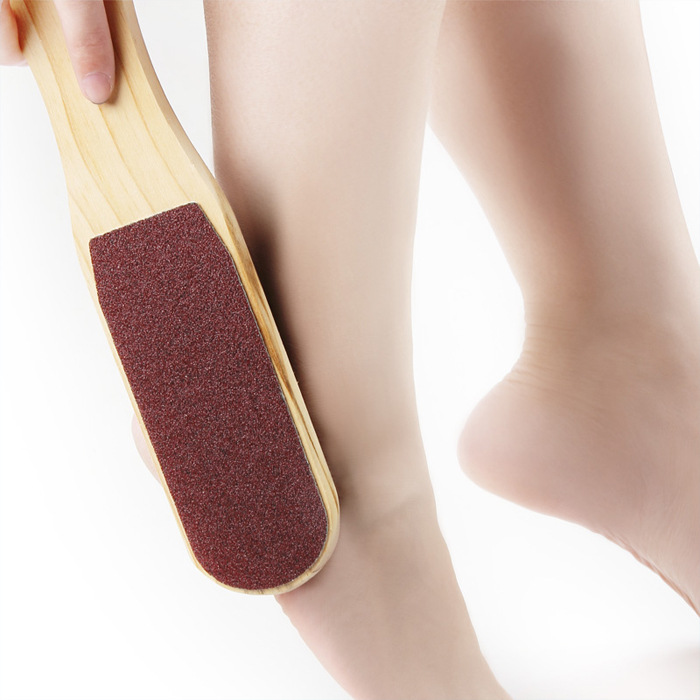 Double Sided Foot Rasps Pedicure Rasp Hard Skin Remover Foot File Wooden handle