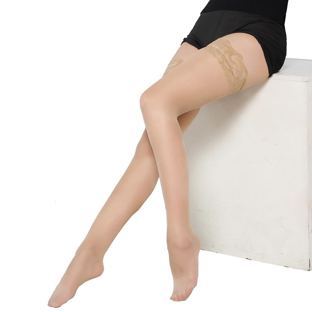 Women Silk Stockings Sexy Lace over the Knee Nightclubs Pantyhose Flesh