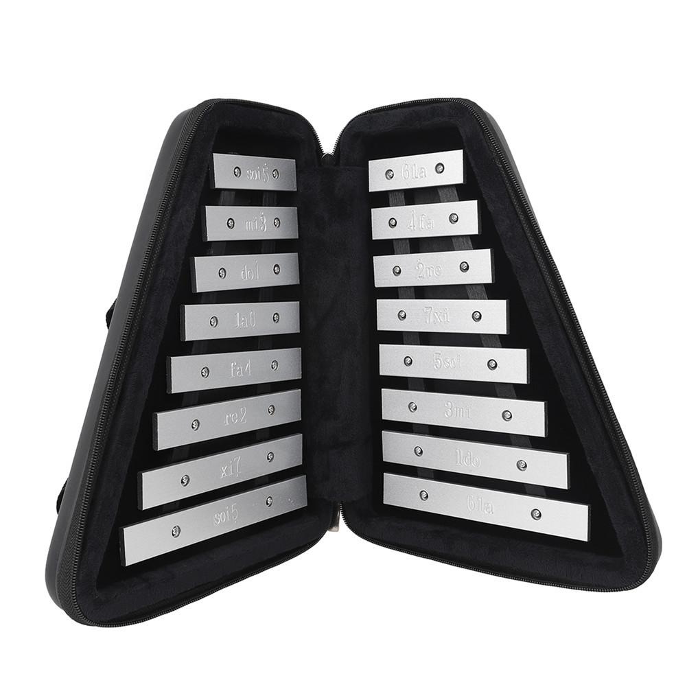 AF-30 Foldable Glockenspiel Sound Metal Keys Soprano Piano Children's Musica Learning Percussion Instrument black