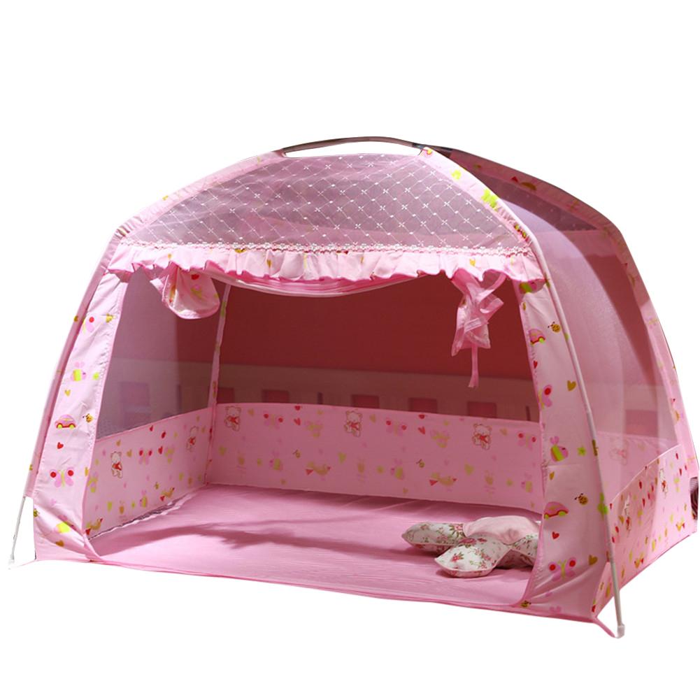 Kids Summer Dome Mongolian Yurt Shape Folding Mosquito Net Pink