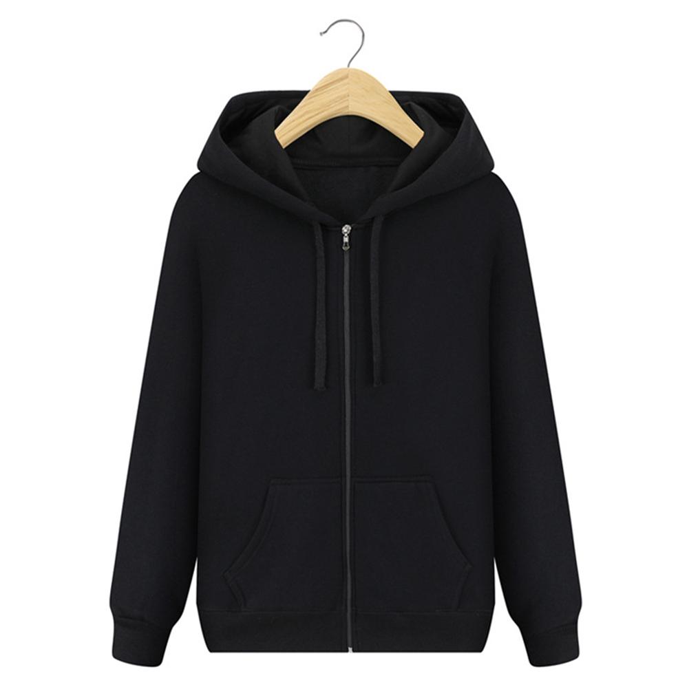 Men Hooded Sweatshirt Zipper Coat